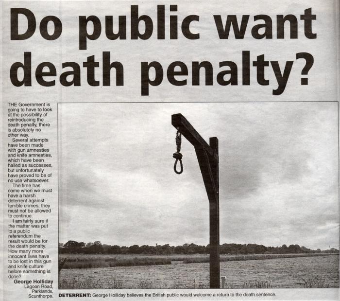 Do Public Want Death Penalty