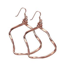 Jennifer Rose Twisted Rose Gold Earrings