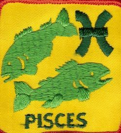 pisces patch fabric craft